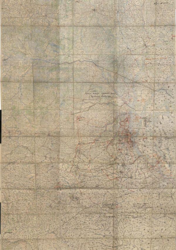 План Киевской наступательной операции войск 1-го Украинского фронта от 28 октября 1943 г., карта