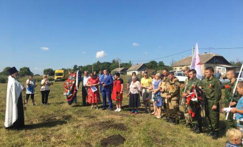 В деревне Зыбинка состоялось перезахоронение останков погибших воинов