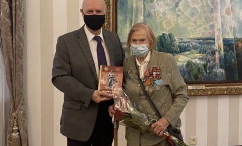 Посол России в Литве встретился с ветераном Великой Отечественной войны Татьяной Архиповой-Эфрос