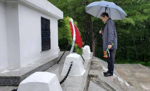 В Харбине возложили венки и живые цветы к памятникам и захоронениям советских воинов в городе Мишань и посёлке Хутоу