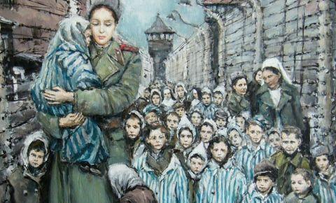 Чешский художник передал в Посольство России в Чехии свою картину «Мадонна Освенцима»