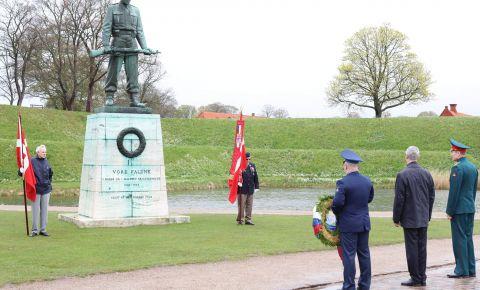 В Копенгагене прошла мемориальная церемония в столичном «Churchill Park»