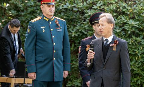 В Швейцарии прошла мемориальная церемония посвящённая 76-й годовщине Победы в Великой Отечественной войне