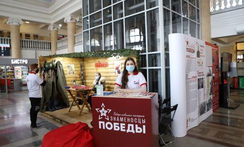 В Красноярске открыта выставочная площадка «Знаменосцы Победы»