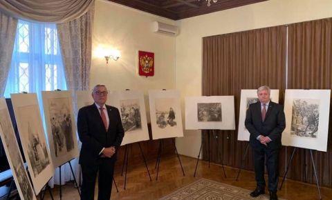 Художественная выставка литографических работ о блокадном Ленинграде размещена в Генконсульстве России в Зальцбурге