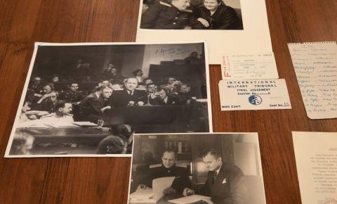Внук главного обвинителя от СССР на Нюрнбергском процессе, передал в дар Музею Победы материалы из семейного архива