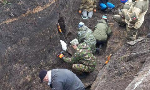 Поисковики подняли останки 132 красноармейцев в Курской области