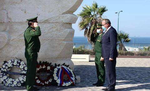 В Нетании прошла церемония возложения венков к Монументу победы Красной армии над нацистской Германией