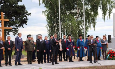 В Чехии прошло торжественное открытие после реставрации захоронения павших советских воинов